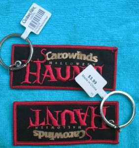 Customized Remove Before Flight Embroidery Keychain pictures & photos