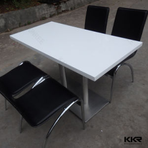 White Rectangle Solid Surface Restaurant Dining Tables pictures & photos