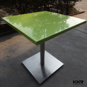 Restaurant Furniture Square Solid Surface Stone Marble Dining Table pictures & photos
