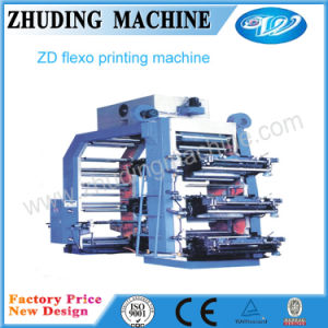 Most Welcomed Plastic Bag 6-Color Flexographic Printing Machine (ZD) pictures & photos