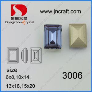 Crystal Jewelry Rectangle Accessories, Fancy Loose Stone Bead Pendant (DZ-3006) pictures & photos