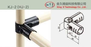 Black Metal PE Pipe Joint for Pipe and Joint System (KJ-2) pictures & photos