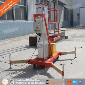 Big Wheel Aluminum Single Mast One Man Telescopic Lift pictures & photos