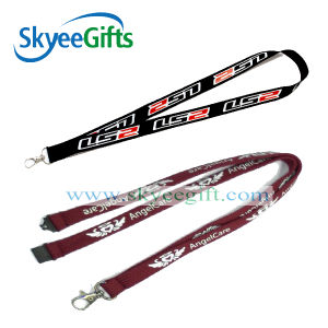 Promotional Gift Ribbon Strap Custom Printed/Heat Transfer Lanyard pictures & photos