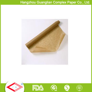 38GSM White and Brown Customized Silicone Oven Baking Parchment Paper pictures & photos