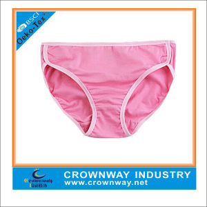 Pure Pink Color Cute Sweet Panties for Girls pictures & photos