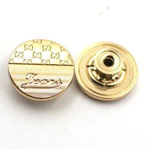 Shiny Gold Metal Zinc Alloy Jeans Button pictures & photos
