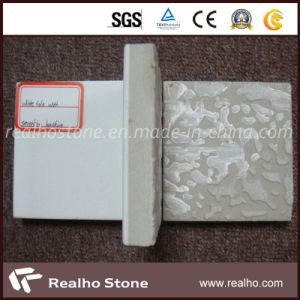 White Crystalized Glass Stone Composite Marble with Backing Porcelain