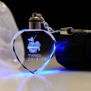 Fancy Cheap LED Crystal Keychain Key Ring pictures & photos