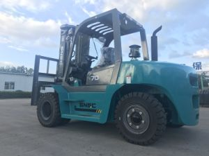 10mt Lifitng Capacity Forklift Truck with Fork Positioner pictures & photos