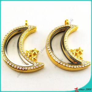 Gold Moon Memory Locket Pendant Necklace (FL16041943)