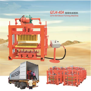 Best Selling Qtj4-40 Brick Machine Price in China, Concrete Brick Moulding Machine pictures & photos