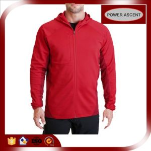 2015 Mens Red Slim Fit Polyester Waterproof Softshell Jacket pictures & photos