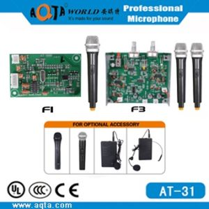 Wireless Circuit Board for Microphone with One/Dual Channels at-31/32