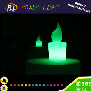 Cordless Flash Night Color Changing LED Candle Light pictures & photos
