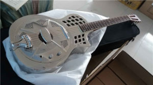 China Aiersi Parlour Size Brass Body Cutway Resonator Guitar pictures & photos