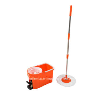 Hand Press Spin Mop with Plastic Basket Bucket with Pedal (SL-S006)