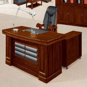 Walnut Wood Office Desk Wood Office Furniture pictures & photos