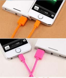 8 Pin Color PVC Insulated Lightning USB Charging Cable Connector pictures & photos