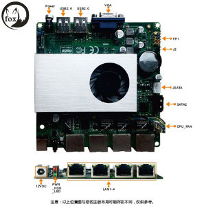 4LAN Motherboard with J1900 Quad Core 2.0 GHz pictures & photos
