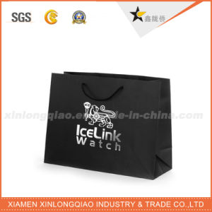 Environment Friendly Classic Matte Black Packaging Paper Bag pictures & photos