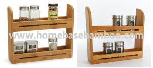 USA Bamboo Spice Rack Shelf Mason Jar Display pictures & photos