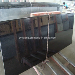 Natural Stone Black Galaxy Granite Countertop for Slabs and Tiles
