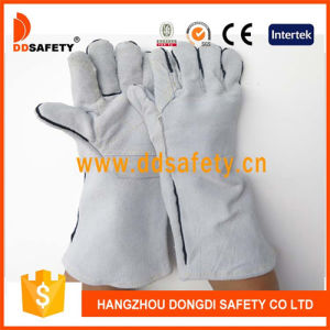 Ddsafety 2017 Grey Cow Split Welding with Reinforced on Palm Glove pictures & photos
