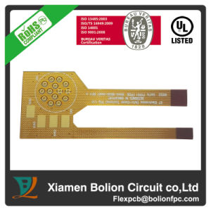 Double-Sided Flexible PCB with Aluminum Stiffener, Minimum Via Is 0.2mm pictures & photos