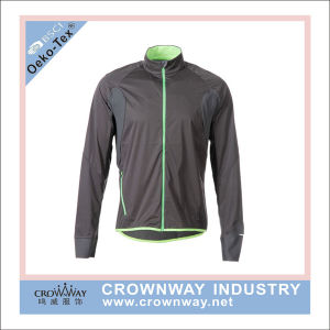 Men Dri Fit Sports Running Jacket with Mesh Fabric Insert pictures & photos