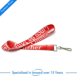 Custom Retractable Printed Polyester Lanyard Strap Neck Ribbon Supreme Phone Badge Printing Woven Sublimation Nylon Lanyard with Keychain ID Card Holder pictures & photos