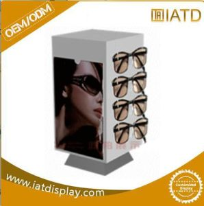 Pop up Display Stand Customized Supermarket Wooden Melamine Glass Cabinet with Lock pictures & photos