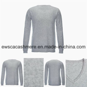 Men′s V-Neck Solid Color Casual Style Top Grade Pure Cashmere Sweater pictures & photos