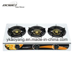 Portable Top Sale 3 Burner Gas Stove Model