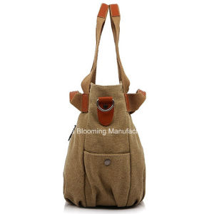 Promotional Leisure Hand Handle Totes Canvas Beach Bag for Women pictures & photos