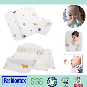 Cotton Baby Face Towel Bamboo Muslin Baby Custom Print pictures & photos