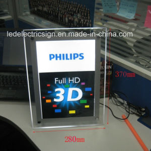 Acrylic Panel Advertising with LED Light Box pictures & photos