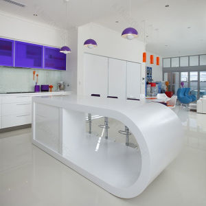 Apartment Unique Design Solid Surface Reception Desk pictures & photos