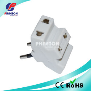 2pin Round Power Adaptor Plug to Three Socket Adaptor Plug pictures & photos