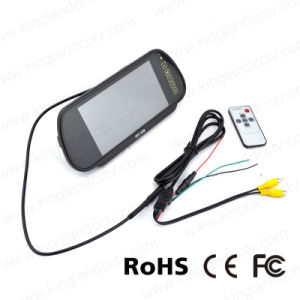 7inch LCD Widescreen Car Rearview Mirror Monitor with Touch Button pictures & photos