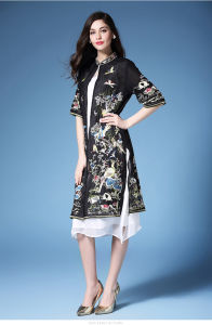New Chinese Style Cheongsam for Ladies Bodycon Sexy Mini Party High Neck Dress pictures & photos