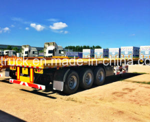 High Quality 3 Axles Container Flatbed Trailer pictures & photos