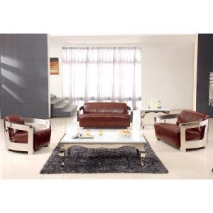 European Classical Leather Sofa Living Room Furniture Sofa (F099) pictures & photos