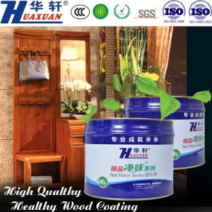 Huaxuan PU Air Clean Open Effect Feeling White Primer Wooden Furniture Paint pictures & photos