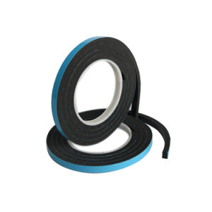EVA Black Rubber Foam Weatherstrip Foam Tape for Window &Door pictures & photos