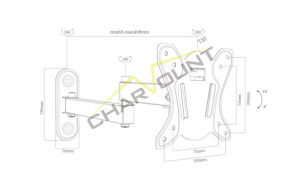 Classic Swivel Wall TV Mount 100X100mm (CT-LCD-MU104) pictures & photos