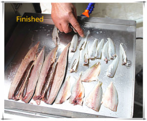 (FGB-168) Automatic Small Fish Filleting Cutter Machine with Ce Approved pictures & photos