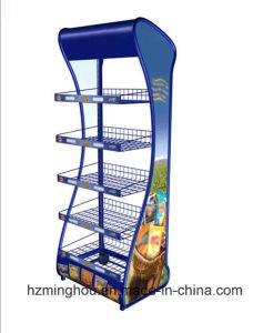 Practical Supermaket Metal Display Rack for Food Display Shelf pictures & photos