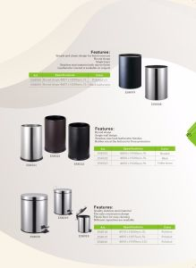 Hotel Stainless Steel Recycling Trash Can with Mirror Finish pictures & photos