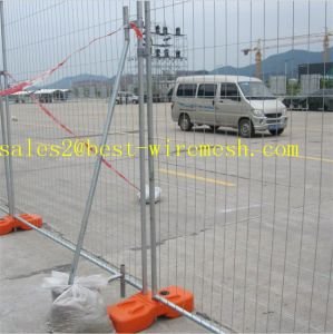 2.4X2.1m Australia Temporary Fence with Concrete Base and Clamps pictures & photos